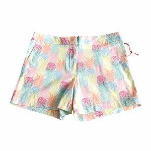 Cynthia Rowley Pineapple Print Shorts